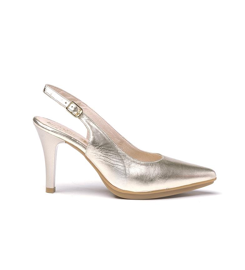 Comprar Eva Mañas Sapatos de couro 1495 platina - Altura do calcanhar: 8,5cm