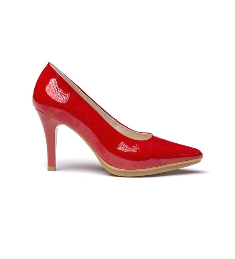 Comprar Eva Mañas Chaussures en cuir 1499 rouge - Hauteur du talon : 8,5cm