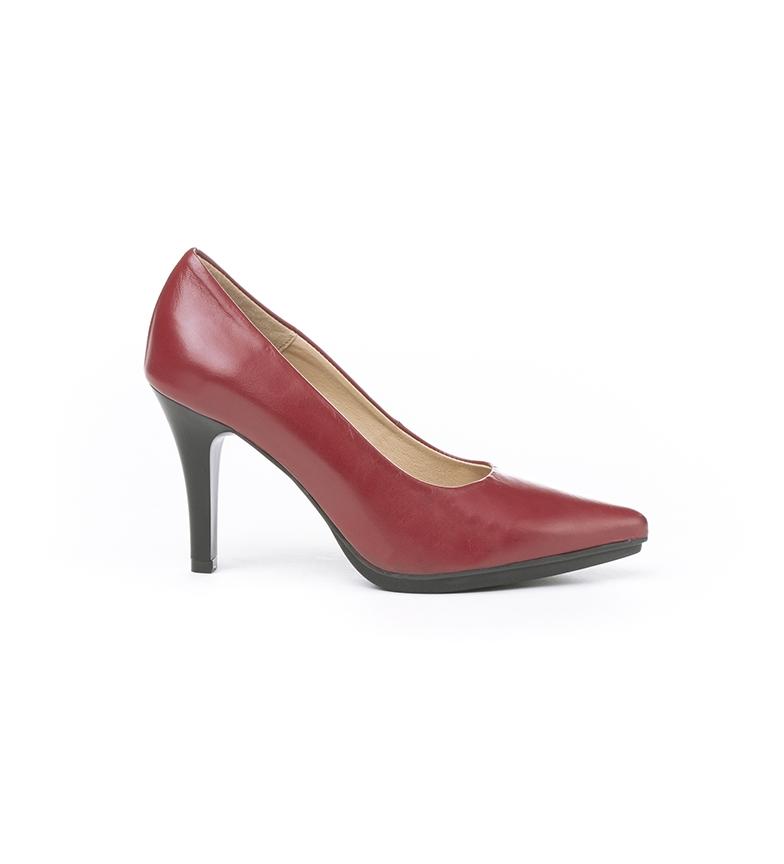 Eva Mañas 1500 scarpe in pelle bordeaux -Altezza tacco: 8,5 cm-