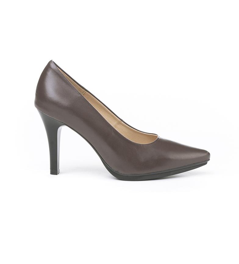 Comprar Eva Mañas Chaussures en cuir 1500 marron -Hauteur du talon : 8,5cm