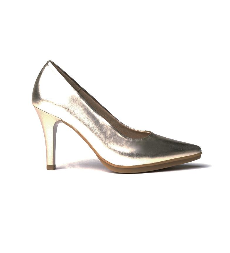 Comprar Eva Mañas Chaussures en cuir 1500 platine - Hauteur du talon : 8,5cm