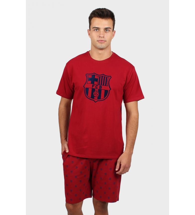 Comprar FC Barcelona Pajama Short Sleeve Garnet Shield