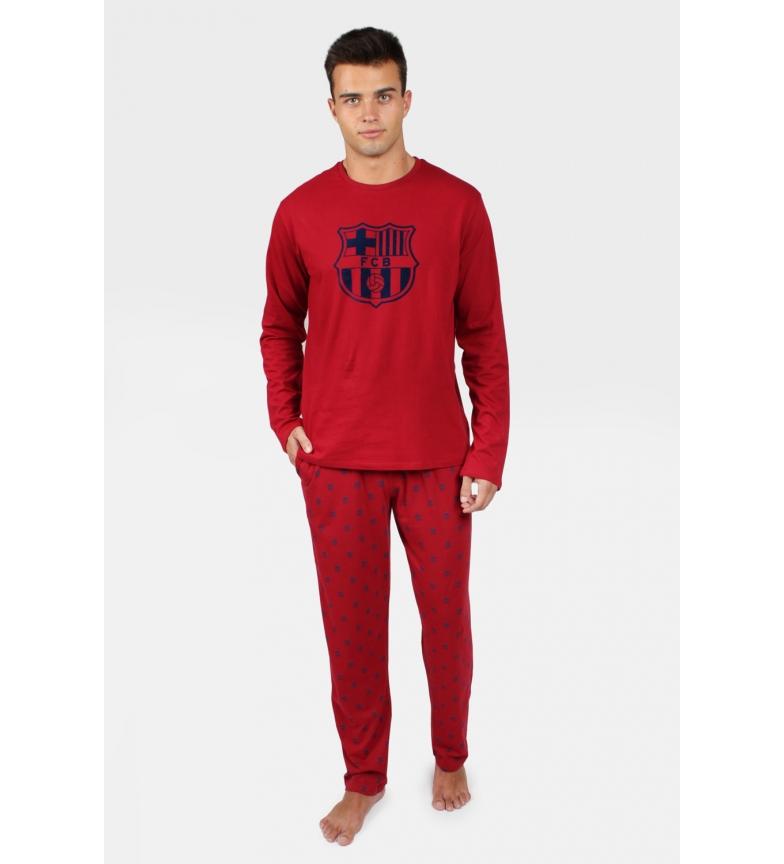 Comprar FC Barcelona Pyjama à manches longues Bouclier rouge