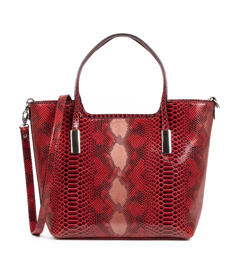Comprar Firenze Artegiani Red Agostina leather bag -37x14x22cm