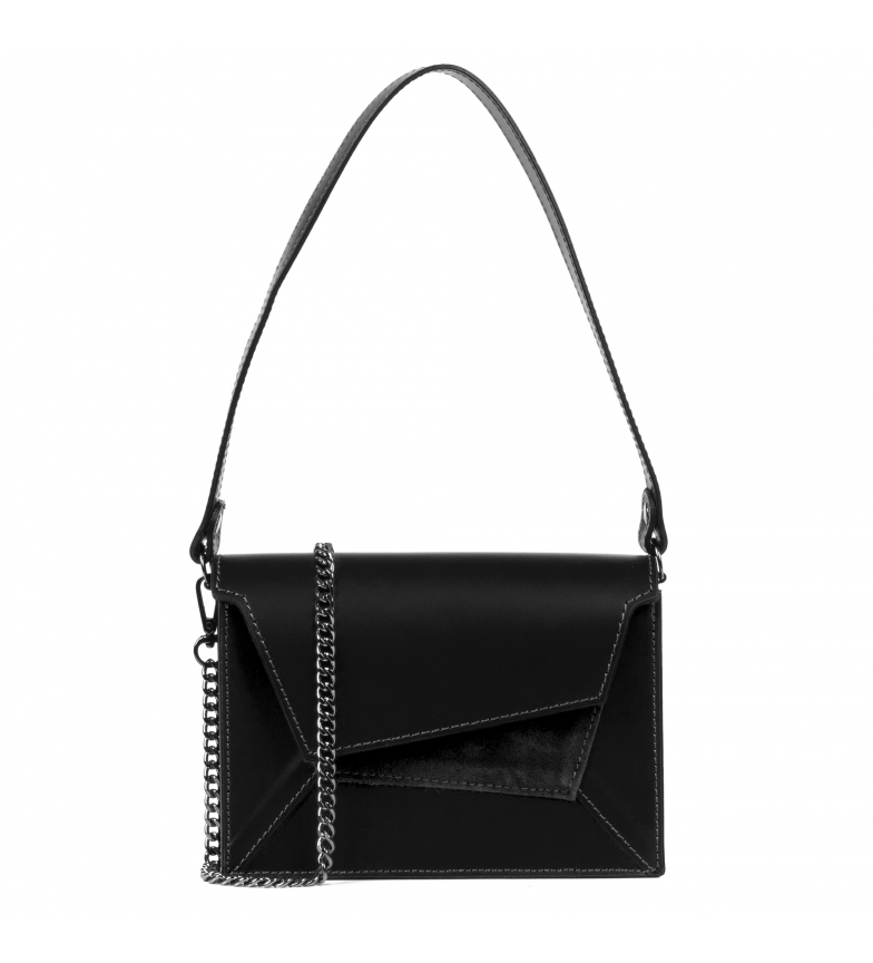 Comprar Firenze Artegiani Black Alessandra leather shoulder bag -19,5x6,5x14cm