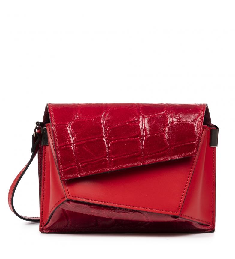 Comprar Firenze Artegiani Red Alessia leather shoulder bag-21x11x16,5cm