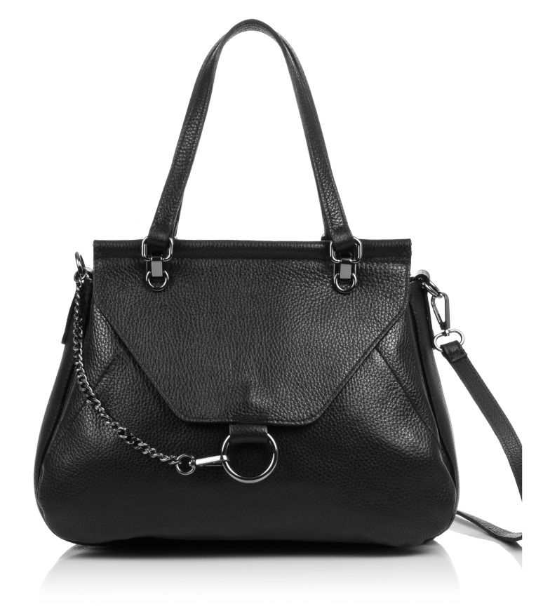 Comprar Firenze Artegiani Shoulder bag in leather Dollaro Alfreda nergro -33x16x24,5 cm-
