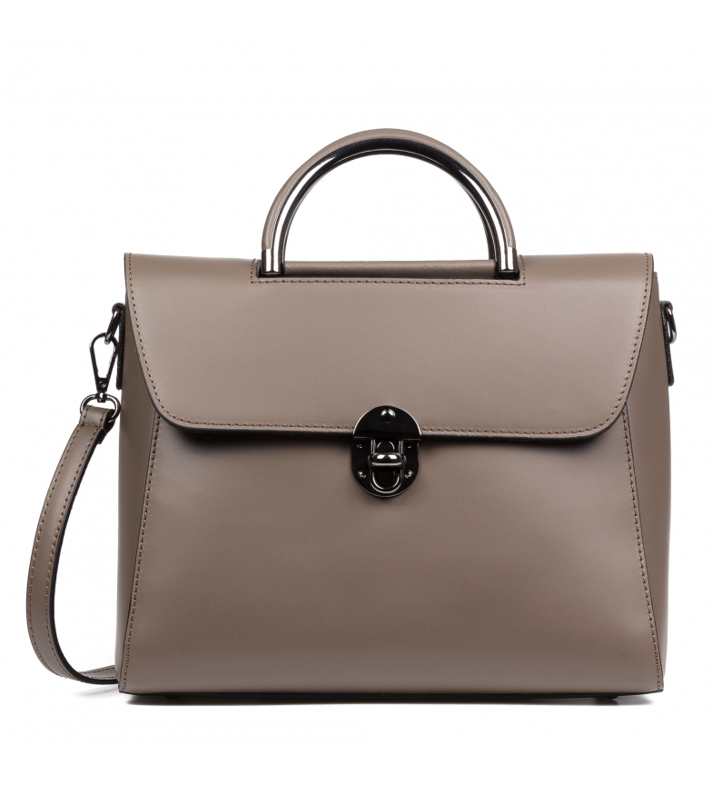 Comprar Firenze Artegiani Leather bag Allegria taupe -29,5x13,5x23,5cm