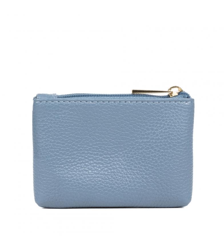 Comprar Firenze Artegiani Porte-monnaie Amaranta Cuir véritable Dollaro bleu -13,5x3x9,5 cm
