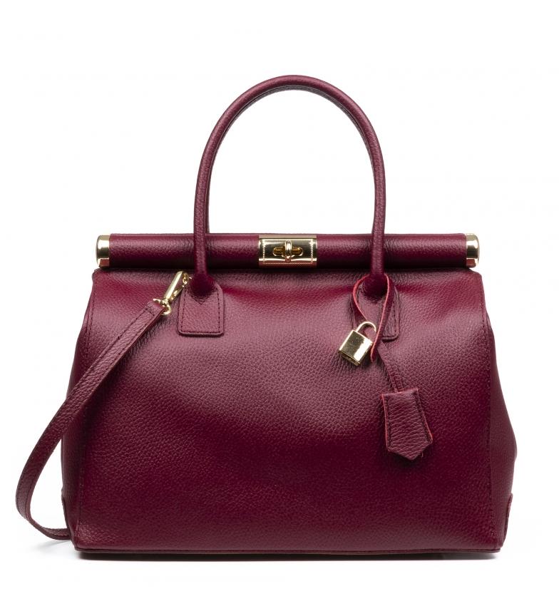 Comprar Firenze Artegiani Aryana saco de couro de Borgonha -5x16x28cm