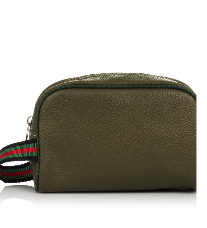 Comprar Firenze Artegiani Borsa in pelle verde Atanasia -20x8,5x12,5cm-