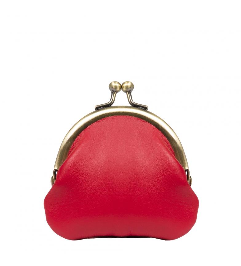 Comprar Firenze Artegiani Ausilia Borsa Ausilia Vera pelle Rosso selvaggio -8,5x1x9,3 cm-