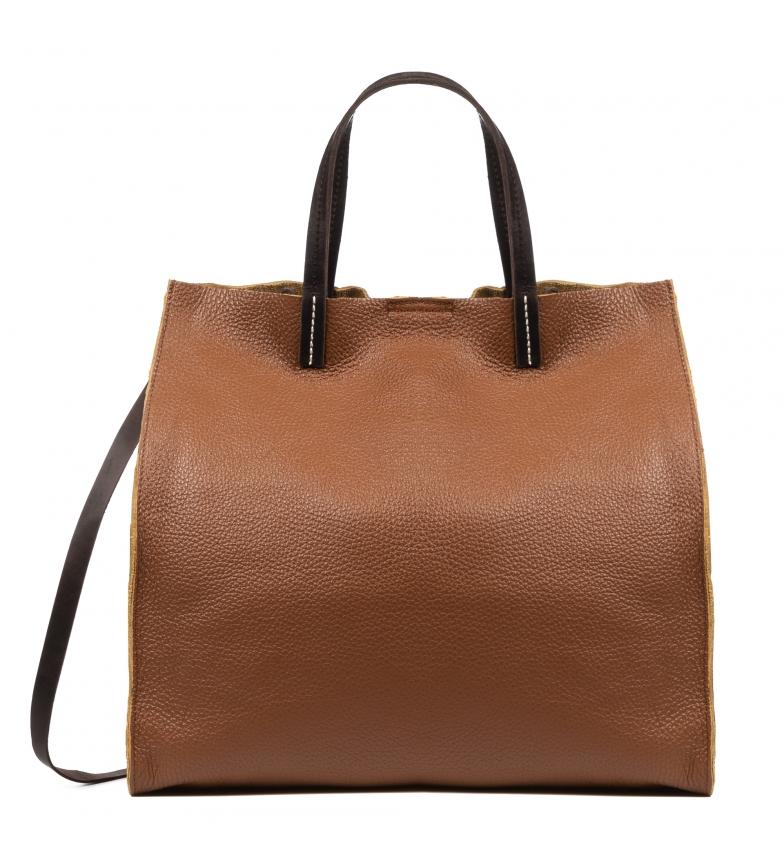 Comprar Firenze Artegiani Brown Bianca leather shopper bag -35x16x35cm