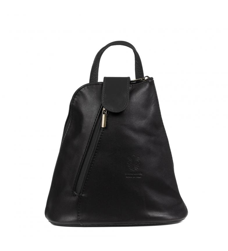 Comprar Firenze Artegiani Carlotta genuine leather backpack Savage black -22,5x11x22,5 cm