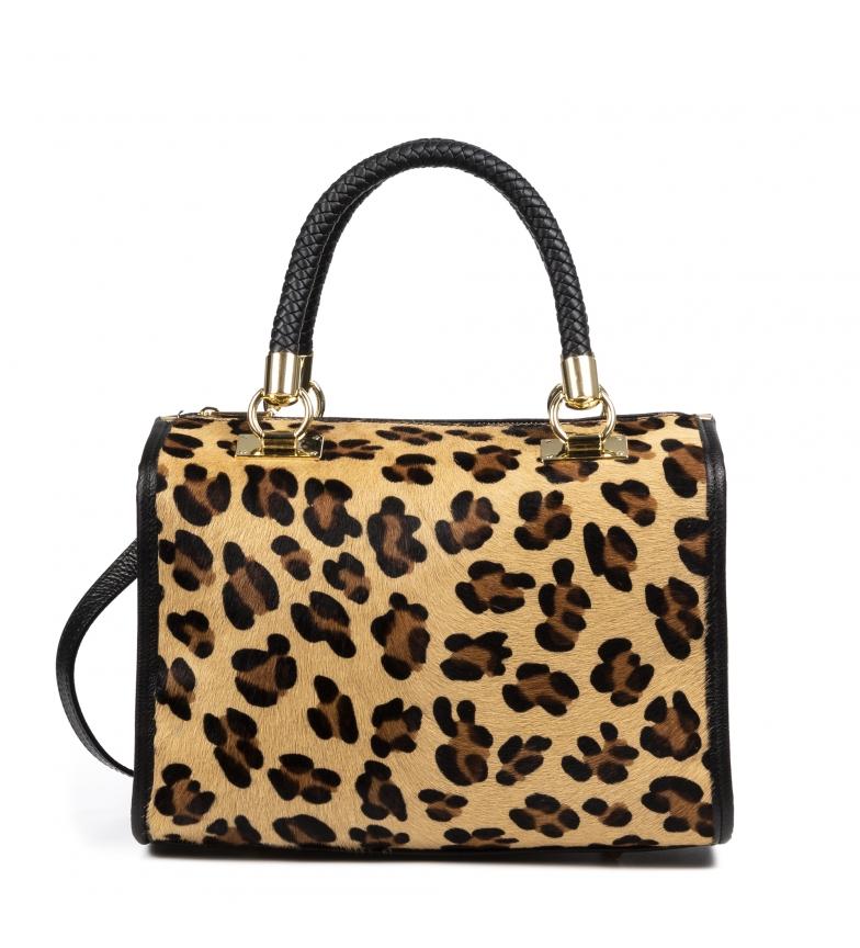 Comprar Firenze Artegiani Catena leopard leather bag -31x16x24cm