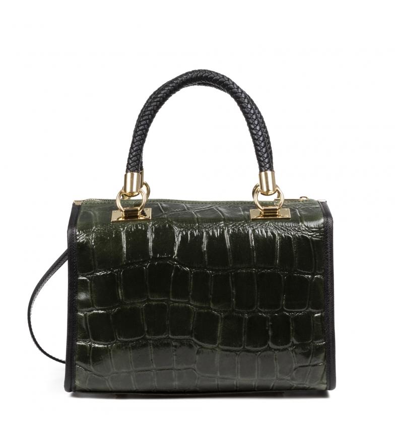 Comprar Firenze Artegiani Catena leather bag dark green -31x16x24cm