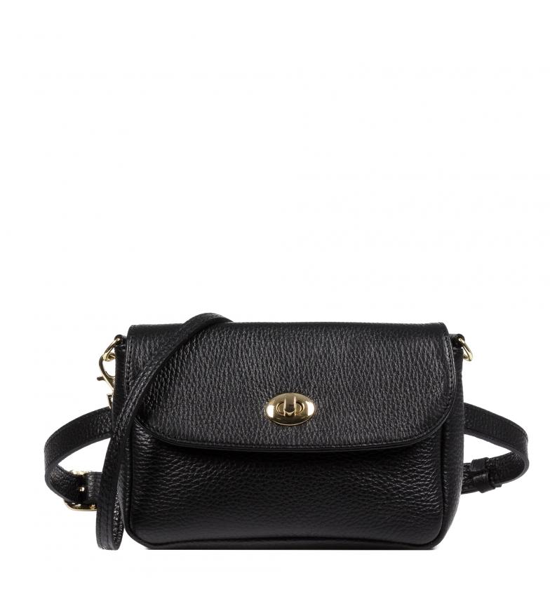 Comprar Firenze Artegiani Cedrina black leather belt -20x5,5x13,5cm