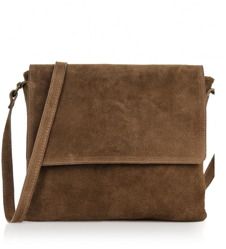 Comprar Firenze Artegiani Leather shoulder bag Chamois Diamond brown -30x5x25 cm-