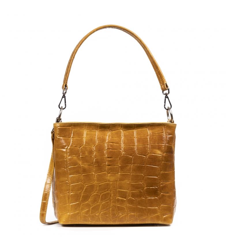 Comprar Firenze Artegiani Camel Donini leather bag -32x18x26cm