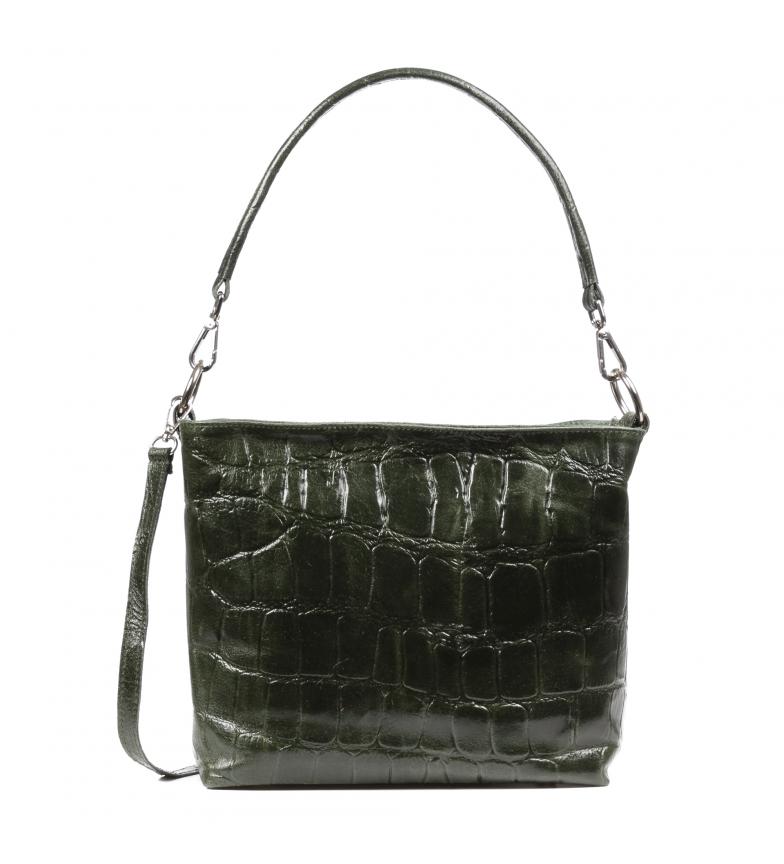 Comprar Firenze Artegiani Borsa Donini in pelle verde scuro -32x18x26cm-