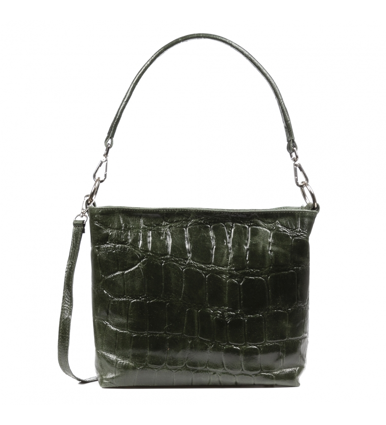 Comprar Firenze Artegiani Dark green Dronero leather bag -25x15x21cm