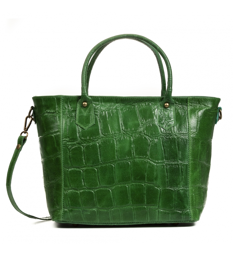 Comprar Firenze Artegiani Imperia green leather bag -36x15x23cm