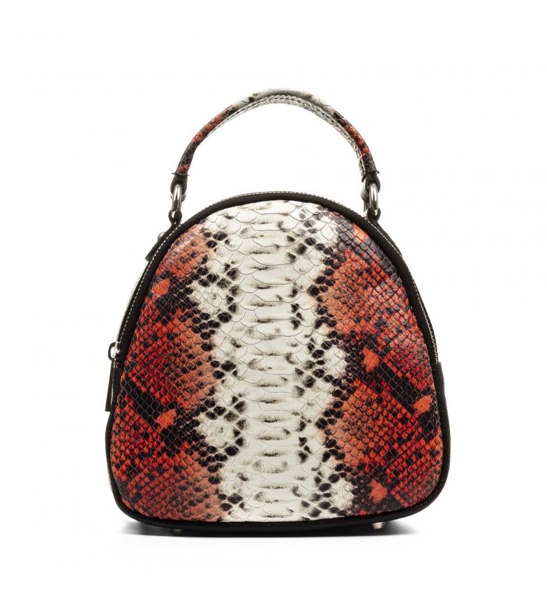 Comprar Firenze Artegiani Bolso mochila de piel Menodora negro, rojo -22x10x20cm-