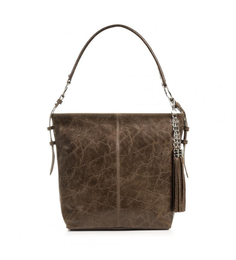 Comprar Firenze Artegiani Orchidea taupe leather bag -35x13x30cm