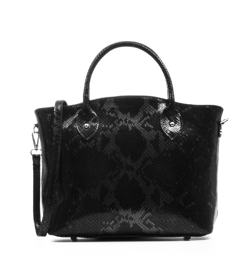 Comprar Firenze Artegiani Black Penelope leather bag -33x13x23cm