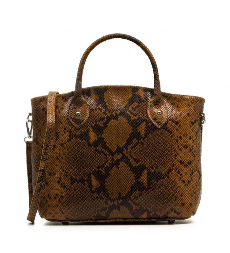 Comprar Firenze Artegiani Penelope leather handbag -33x13x23cm