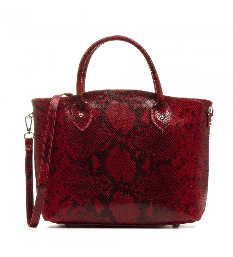 Comprar Firenze Artegiani Red Penelope leather bag -33x13x23cm