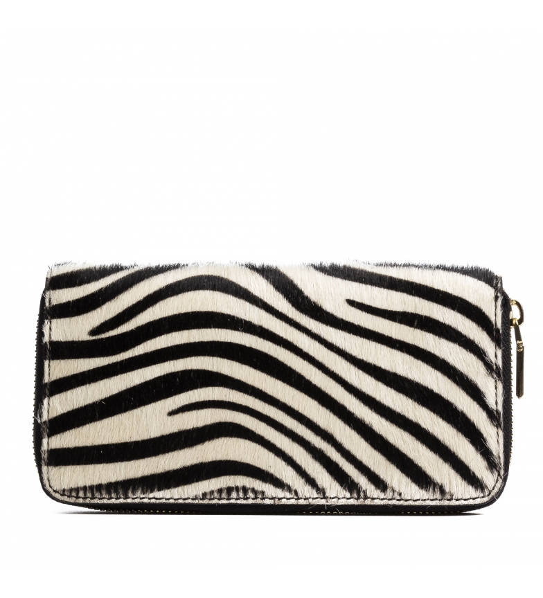 Comprar Firenze Artegiani Stella zebra skin wallet -19x2,5x10,5cm