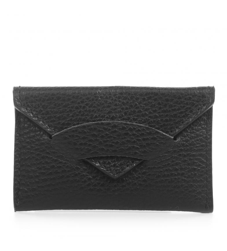 Comprar Firenze Artegiani Portefeuille en cuir véritable Virginia Dollaro noir -11x1x7 cm
