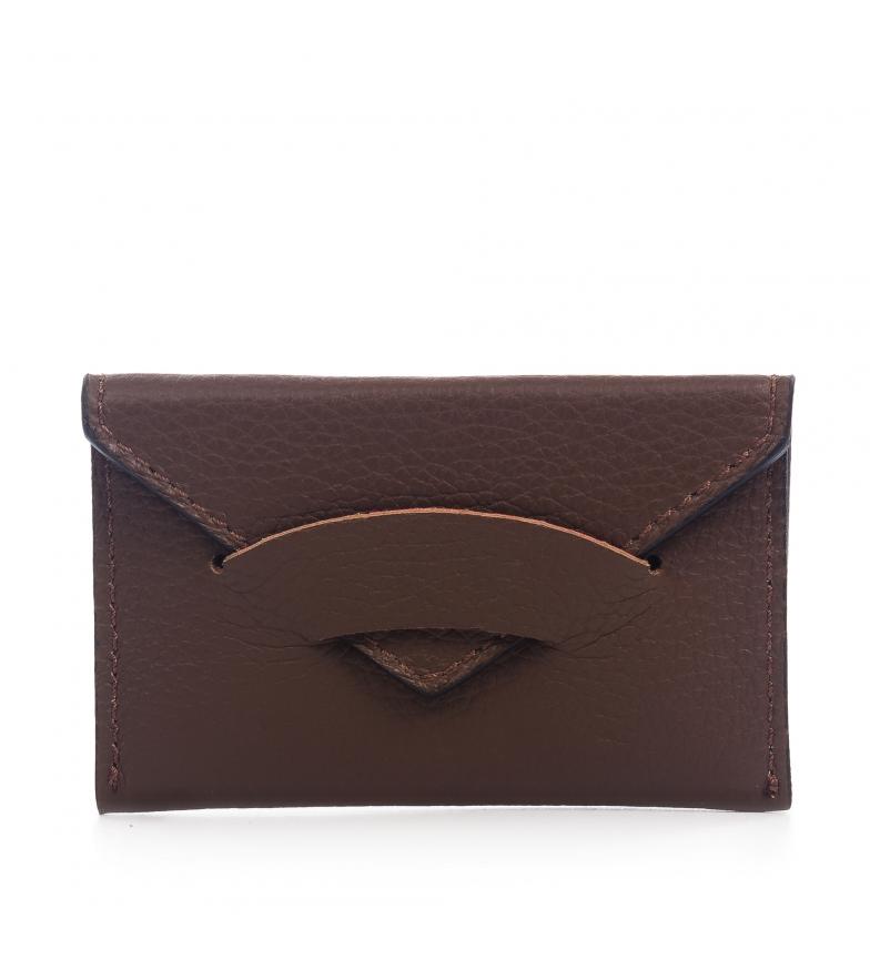 Comprar Firenze Artegiani Portefeuille en cuir véritable de Virginie Dollaro brun -11x1x7 cm