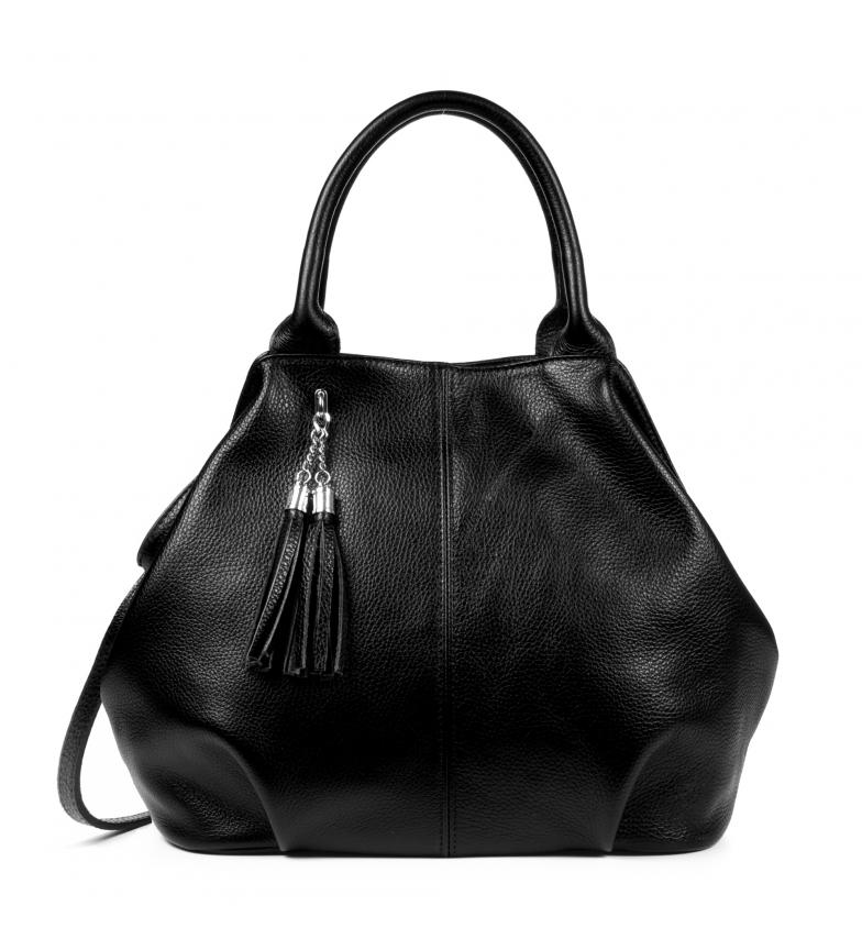Comprar Firenze Artegiani Bolso Shopper de piel Zenobia negro -38x14x30cm-