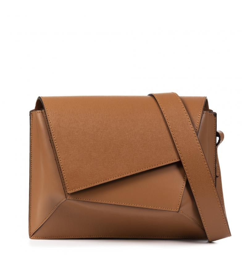 Comprar Firenze Artegiani Zosima leather shoulder bag -28x11,5x21,5cm