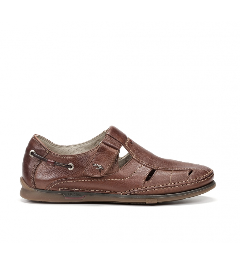 Comprar Fluchos Sandalias de piel Poseidon 7575 marrón