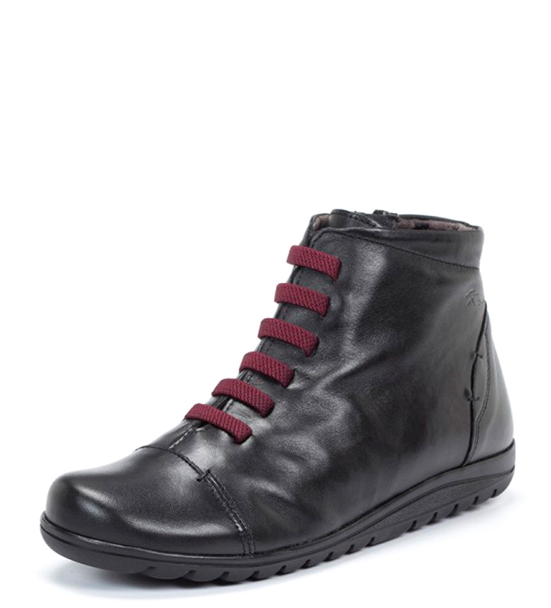 Botines piel de Evel Fluchos negro aTqdaB