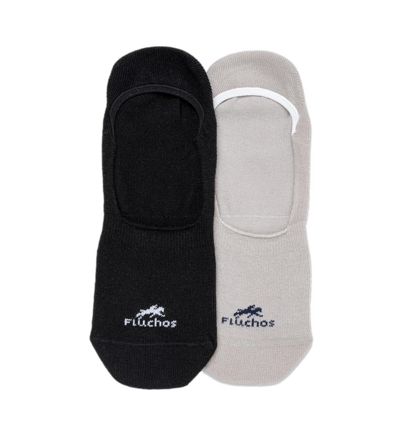 Comprar Fluchos Confezione da 2 calzini Ca0002 beige, blu navy
