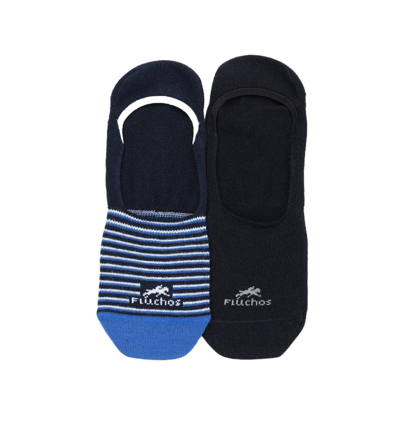Comprar Fluchos Confezione da 2 calzini Ca0002 blu, nero