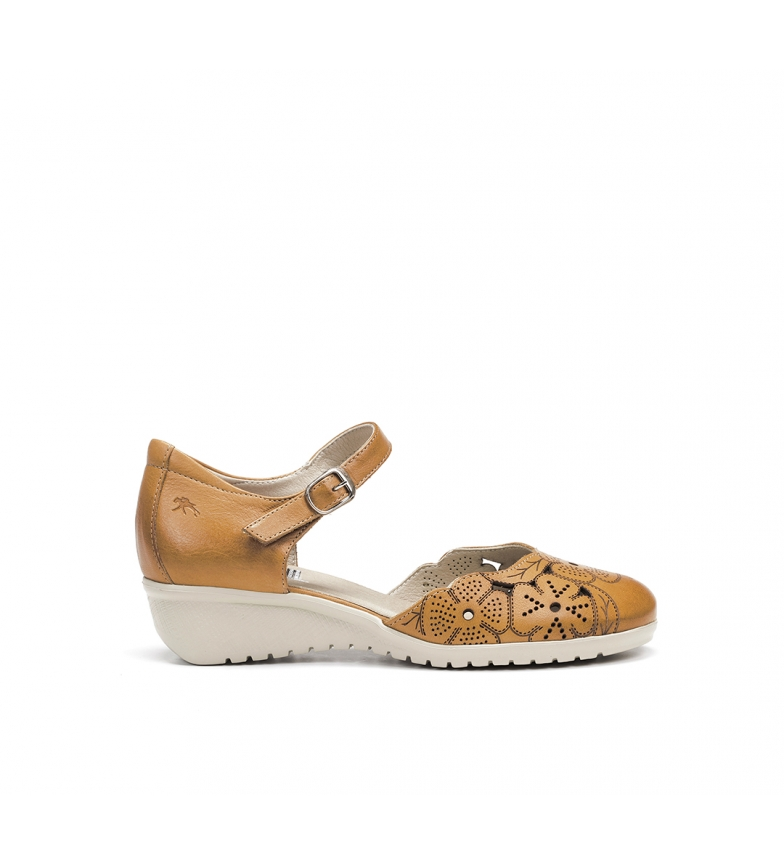 Comprar Fluchos Yoda Leather Sandals F0183 mustard