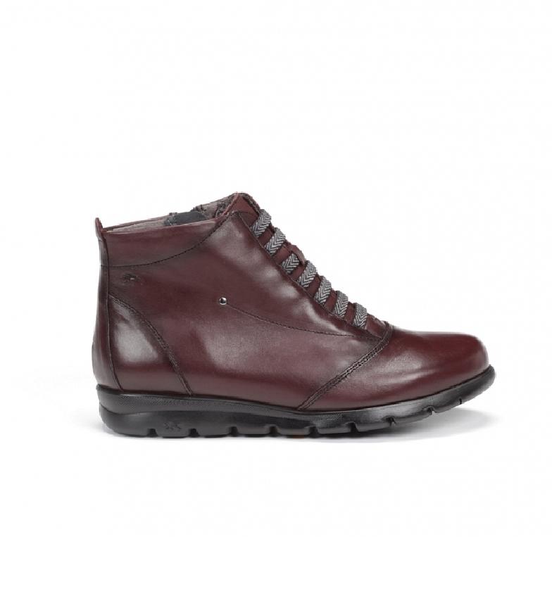 Comprar Fluchos Leather boots Susan F0356 burgundy boots