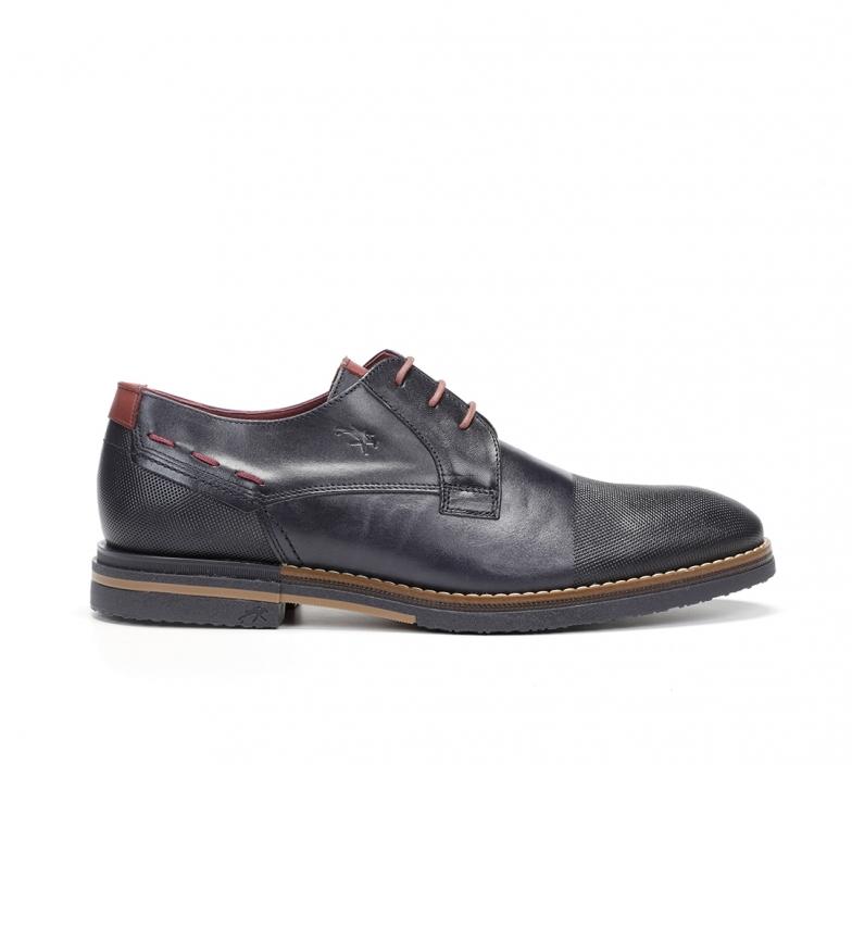 Comprar Fluchos Sapatos de Couro de Clooney F0532 Marine