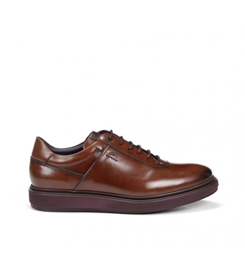 Comprar Fluchos Chaussures en cuir Noeud F0621 marron