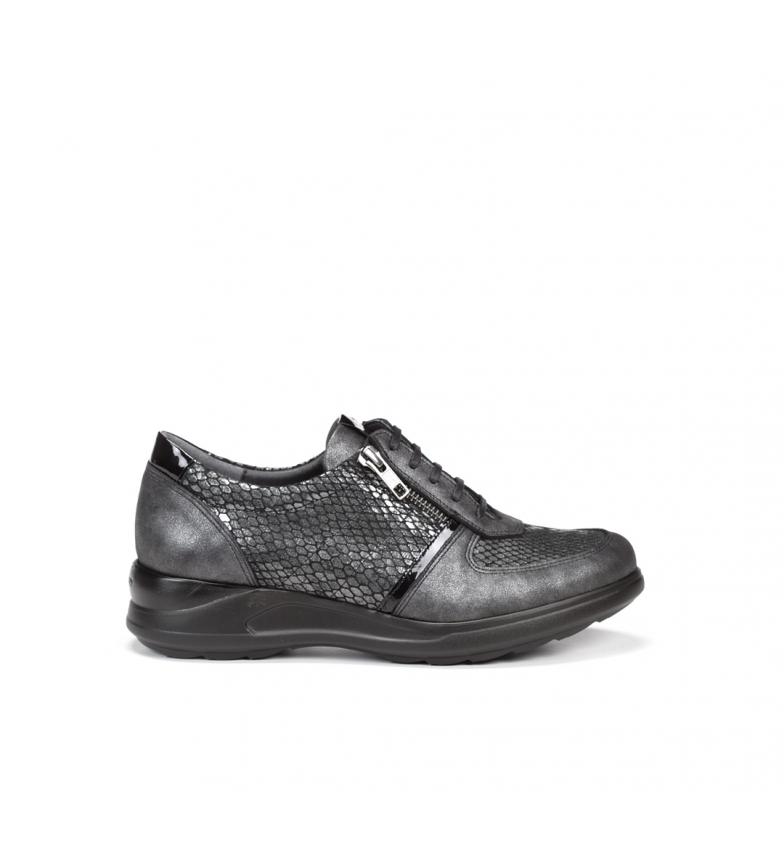 Comprar Fluchos Sapatos de couro Clore F0710 preto - Altura da cunha: 4 cm
