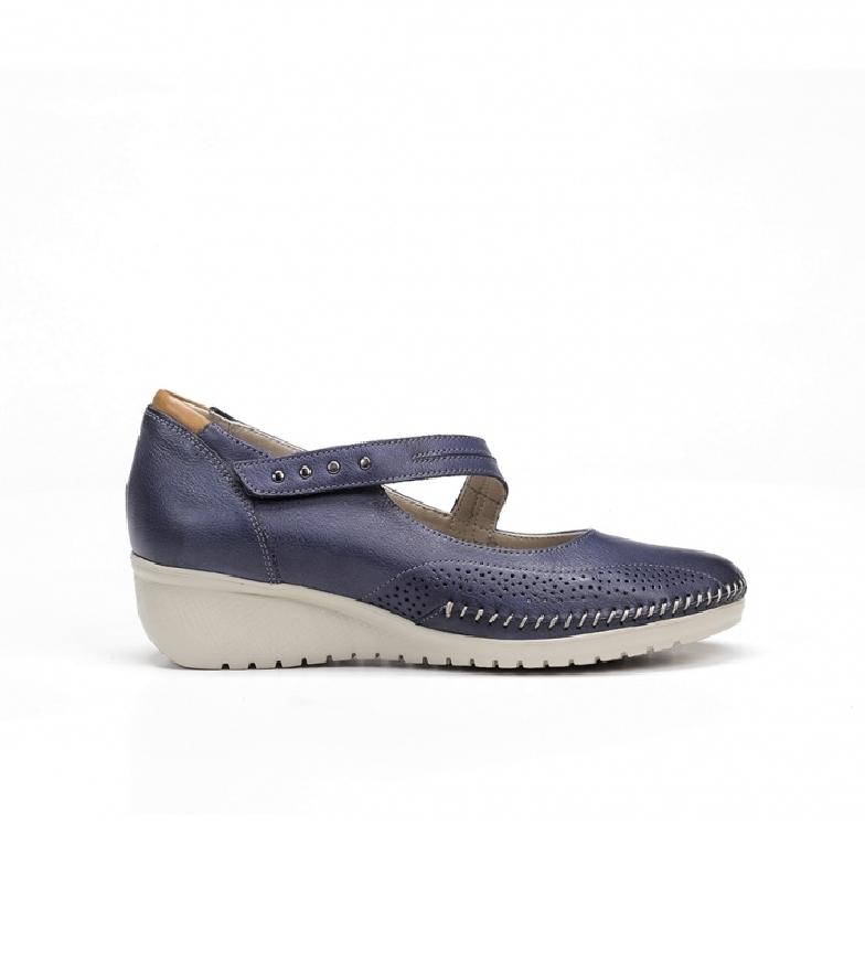 Comprar Fluchos Leather shoes F0757 marine - wedge height: 3 cm