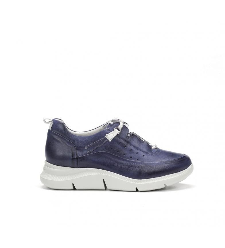 Comprar Fluchos Sapatos de couro tropical F0769 azul