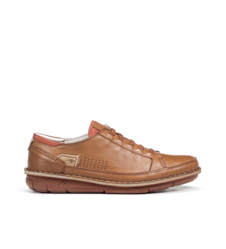 Comprar Fluchos Sapatos de couro F0789 castanho