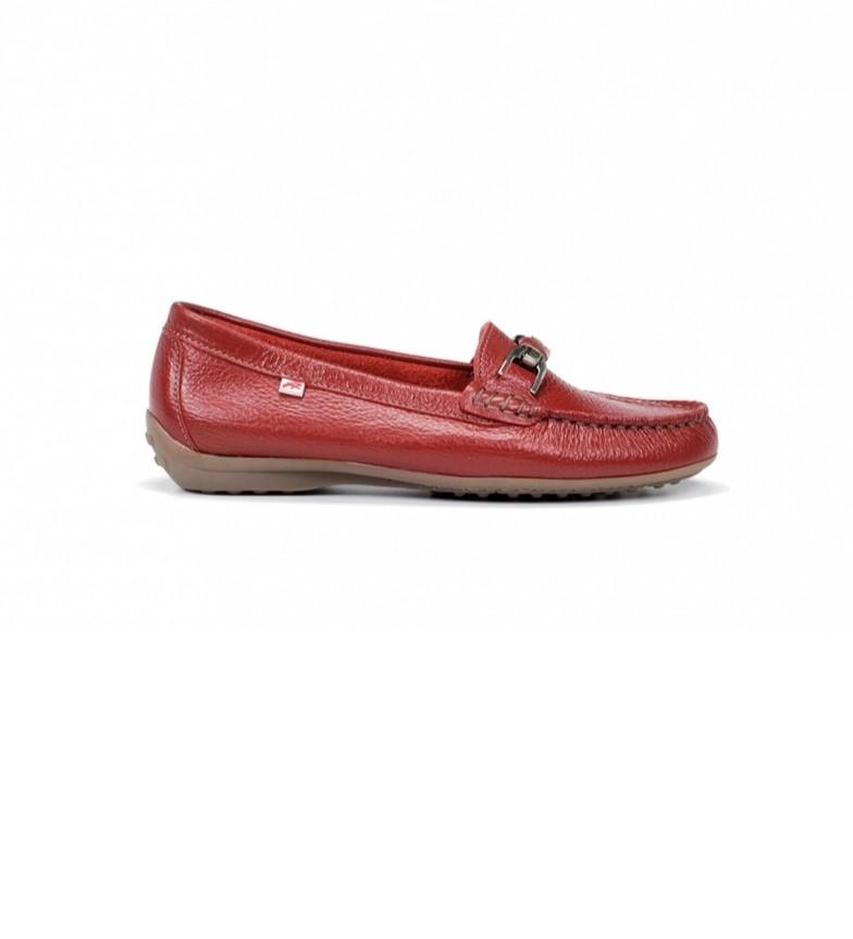 Comprar Fluchos Mocassins en cuir Bruni F0804 Red Floter