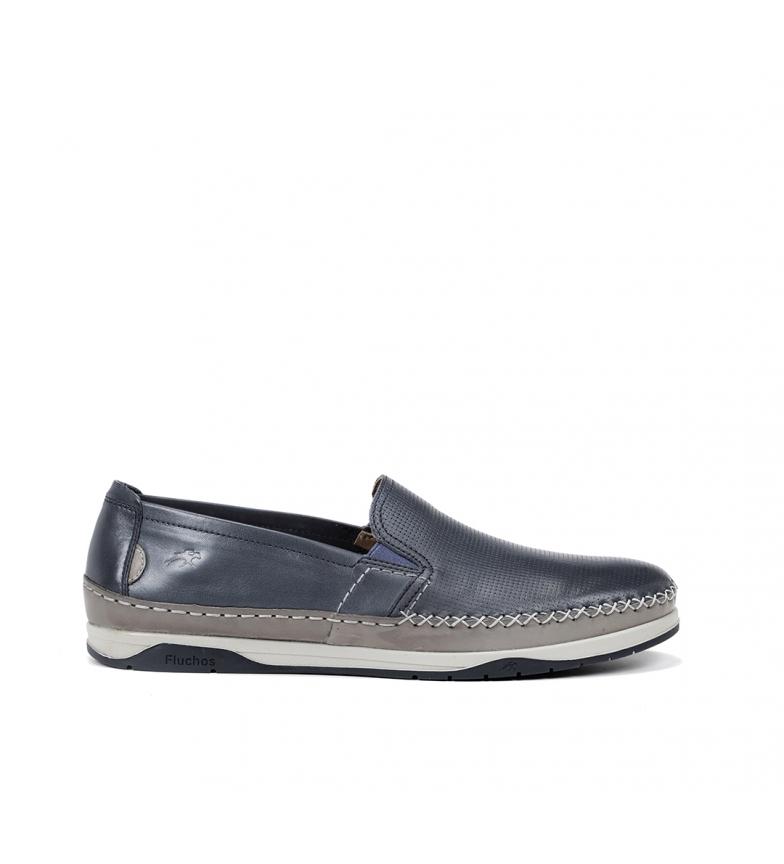 Fluchos Sapatos de Couro Kendal F0814 azul